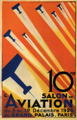 Paris Air Show 1926 Vintage Travel Poster Canvas Giclee Print 24x36 in.