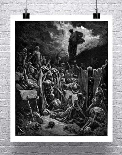 Valley of Dry Bones Gustave Dore Fine Art Rolled Canvas Giclee Print 24x29 in.