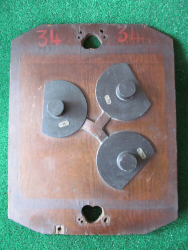 Vintage Antique Industrial Age Foundry Circa 1920's Antique Wood Mold Steampunk