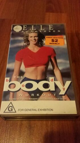 ELLE MACPHERSON THE BODY WORKOUT - VHS VIDEO TAPE  1995