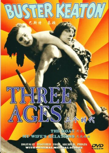 """NEW DVD Buster Keaton """" Three Ages """" Buster Keaton, Margaret Leahy"""