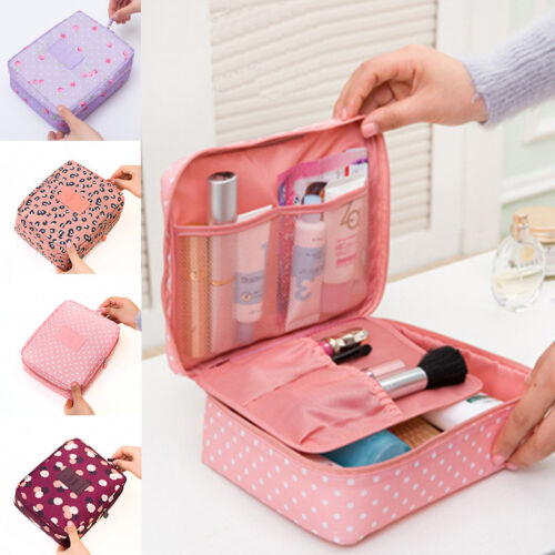 Portable Travel Makeup Toiletry Case Pouch Flower Organizer Cosmetic Bag