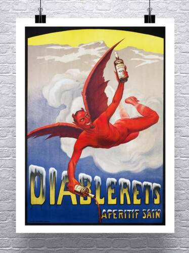 Devil Liquor Vintage Advertising Poster Rolled Canvas Giclee Print 24x32 Inches