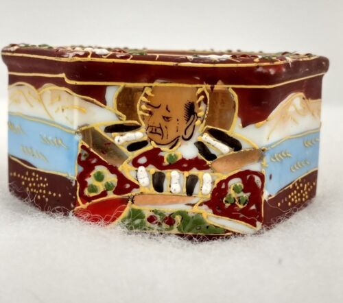 Japanese  Incense Burner Dish Hand Painted Vintage