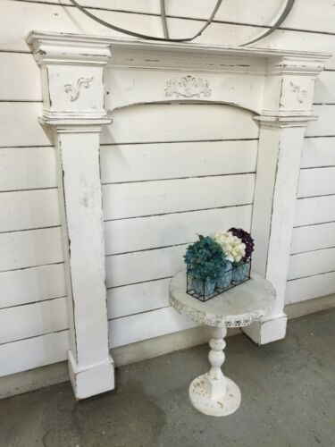 Fireplace Mantle with surrounds,Fireplace Surrounds,Prmitive Mantle with legs,60