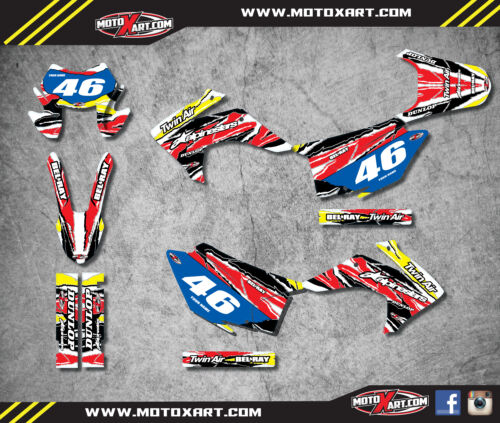 Custom Graphics Full Kit For Honda CRF 230F 2015-2017 DIGGER style stickers