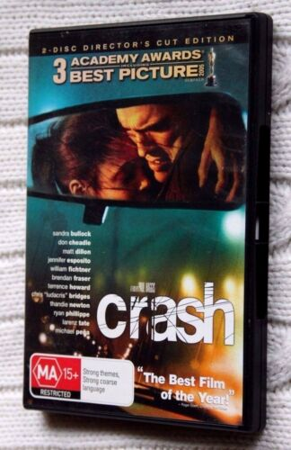 Crash (DVD) 2-Disc Director's Cut Edition, R - 4, LIKE NEW, FREE POST AUS-WIDE