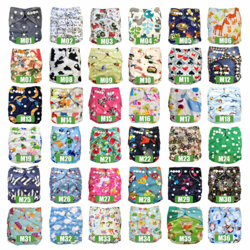 Bulk Pack Reusable Baby Cloth Nappies MCNs + Inserts Liners My Little Ripple