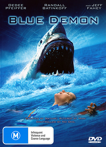 Jeff Fahey Dedee Pfeiffer BLUE DEMON - MUTANT GREAT WHITE SHARK HORROR DVD