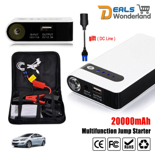 20000mAh Portable Car Jump Starter Vehicle Charger Power Bank Battery Engine <br/> Portable √ High Capacity √ Star selling √ Rechargeable√