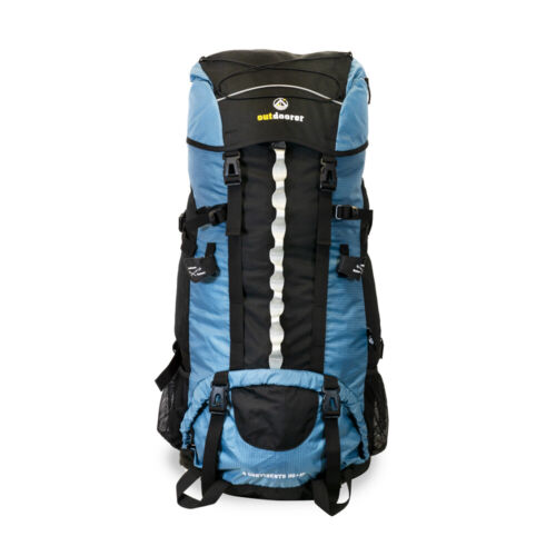 Ergonom. XL Backpacking Rucksack 4 Continents 85+10 für Backpacker Reise in Blau