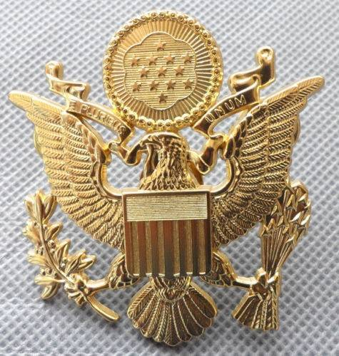"""US Army Officer Cap Eagle Badge Insigia Gold 1-3/4"""" Lapel Hat PinArmy - 66529"""