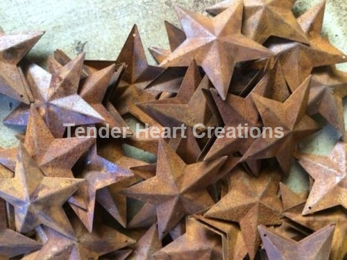 "Lot 100 Rusty Barn Stars 2.25 in 2 1/4"" Primitive Country Rust Craft SHIPS FREE"