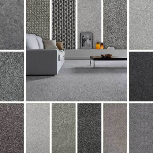 Grey Carpet, Cheap Grey Carpets, Loop, Twist & Saxony Pile Grey Carpets Feltback <br/> FREE FAST Delivery! eBays CHEAPEST Seller! FREE Samples