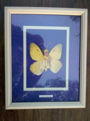 """5pp99 ANNE GEDDES PRINT, FRAMED, """"FIONA BUTTERFLY"""", VERY GOOD CONDITION"""