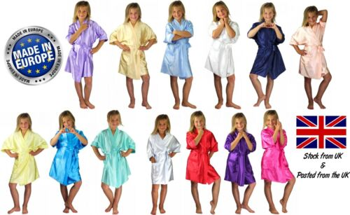 Children's Personalised Wedding Robe Dressing Gown Kids 22 Colours Flower Girl