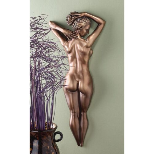 Naked Celebration of the female form Bronze finish Erotic Wall Sculpture