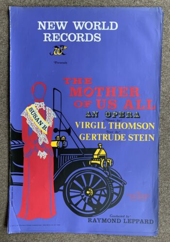 1976 Robert Indiana The Mother Of Us All Opera  Red Poster Serigraph Pop Art