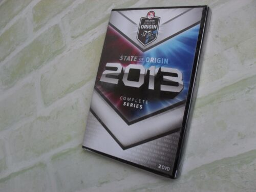 STATE OF ORIGIN 2013 COMPLETE SERIES - REGION 4 PAL - 2 DISC DVD - NEW SEALED