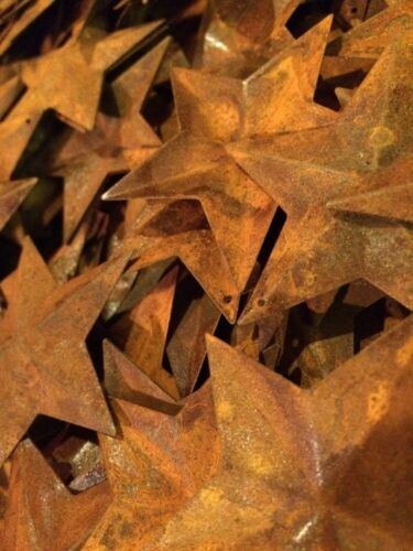 "Lot 100 Rusty Barn Stars 2.25 in 2 1/4"" Primitive Country Rusted Rust Craft"