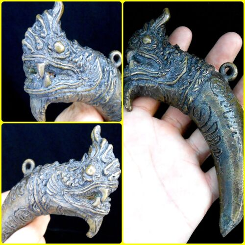 RARE Jumbo Takrut Serpent Great Naga Thai Amulet Powerful Holy Magic Talismans