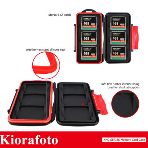 KIORA Anti-shock Moisture-proof Memory Card Case Storage Protector for 6CF Cards