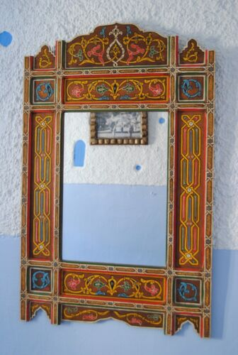 Moroccan mirror frame Painted handmade  local craftman (61cm x 98cm) 24'' x 39""