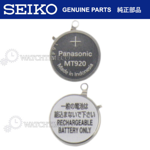 Panasonic MT920 Battery Capacitor Seiko Pulsar Solar V142 V145 V157 V158 VS32