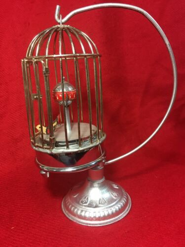 Rare and Unusual German Birdcage Clock Cage W Stand. In Working Condition