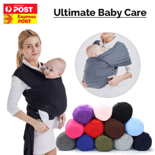 Baby Sling Cotton Adjustable Wrap Carrier Infant Breastfeeding Pouch Newborn <br/> ☆ Machine Washable ☆ 100% Satisfaction ☆ Sydney Stock