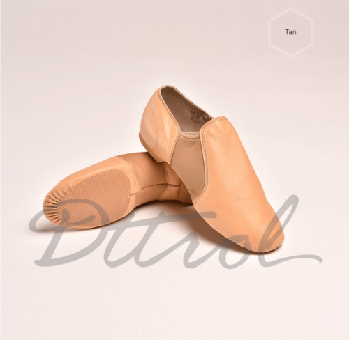 AU SELLER Quality Soft Leather Slip on Leather Upper Jazz Shoes beige (Tan)