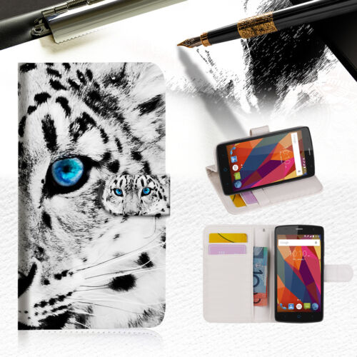 Leopard Wallet TPU Case Cover For Telstra Signature Premium A9 --A013
