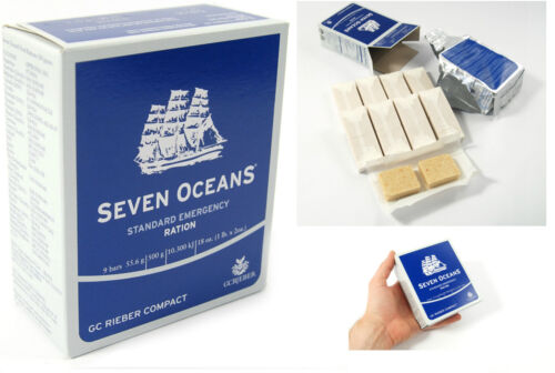 1x 500g EMERGENCY FOOD RATION MEAL SURVIVAL BISCUITS SEVEN OCEANS NORWAY MRE SOSOther Militaria - 135
