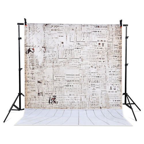 US Local 5x7 ft Gradient Studio Photo Backdrop Background Wooden newspaper wall