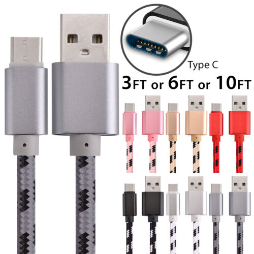USB-C Type-C 3.1 Fast Charging Cable Data Sync Charger Charging Cord LOT