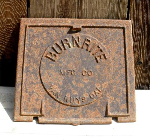 Antique BURNRITE Door Wood Coal Cast Iron Vintage Furnace Stove Part Van Nuys CA
