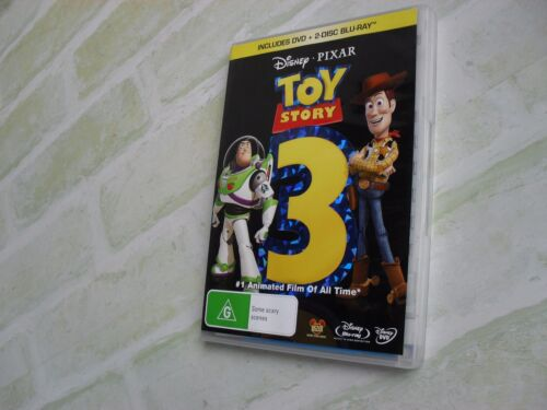 TOY STORY 3 - 2 BLU-RAY DISCS + 1 DVD DISC - 3 DISCS IN TOTAL - REGION 4 PAL