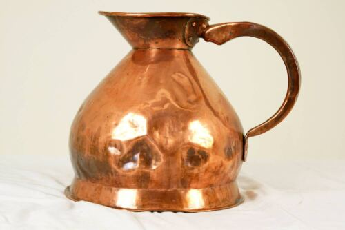 Large Antique Scottish Copper 4 Gallon Haystack Weights and Measures Jug 11lbs