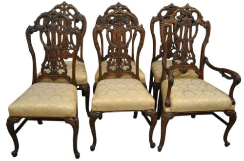 Set of Six Antique Chippendale Dining Chairs by J.K. Rishel Co., circa 1900