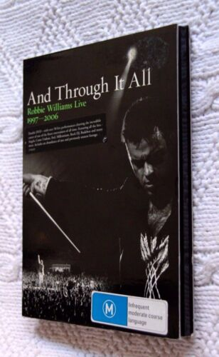 AND THROUGH IT ALL : ROBBIE WILLIAMS LIVE 1997-2006 (DVD, 2-DISC) R-2,4 LIKE NEW