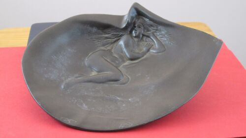 Nude Lady In a Clam Shell Brass Clad Dish/Tray  JZ-0302