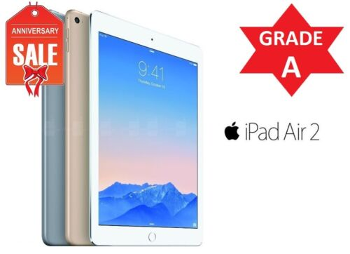Apple iPad Air 2 64GB WiFi Cellular (UNLOCKED) 9.7 Touch ID GOLD GRAY SILVER (R)