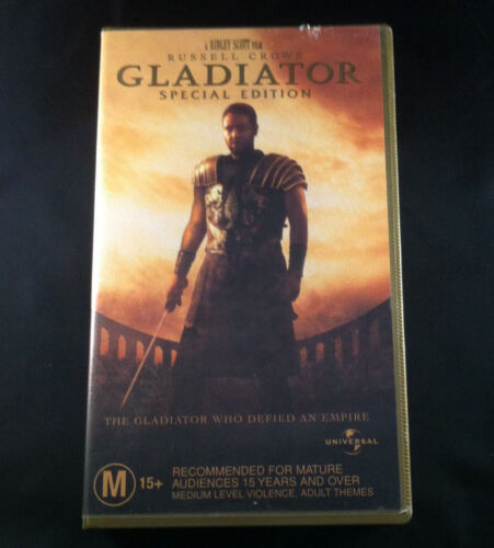 Gladiator - Special Edition - Russell Crowe - VHS Video Cassette