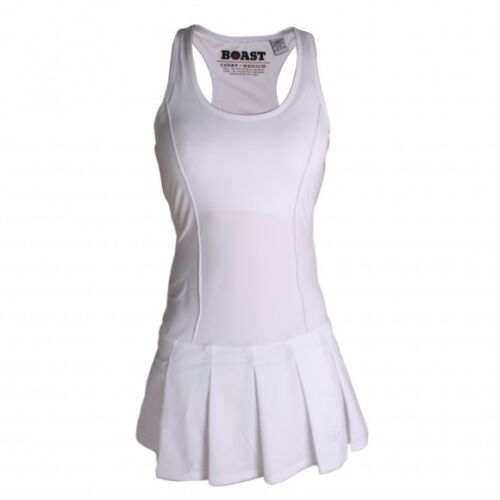 Boast White Pleated Tennis Dress