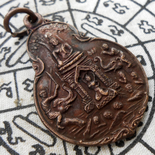 Powerful Holy Genuine Thai Amulet Pendant Phra Mae Thorani ( Mother Earth ) RARE