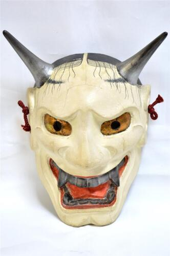 Wooden! Japanese Traditional Noh Mask Demon HANNYA Samurai Kagura Kabuki Bugaku