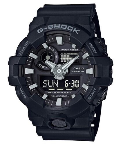 Casio G-Shock Black Analogue/Digital 3D Face Mens Sports Watch GA700-1B <br/> 3% OFF YOUR PURCHASE! USE CODE POTTER3 AT CHECKOUT