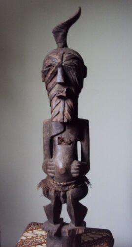 WAS $429  FINE STRIKING SONGYE POWER  MALE 1 Man African Carving!!