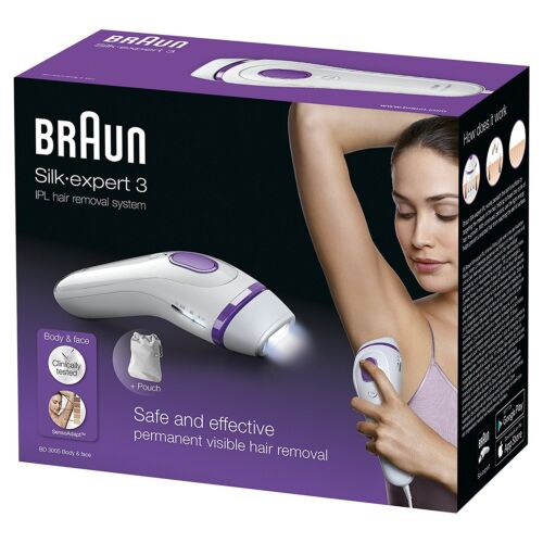 Braun Silk-Expert IPL BD3005 Permanent Visible Home Hair Removal for Body & Face