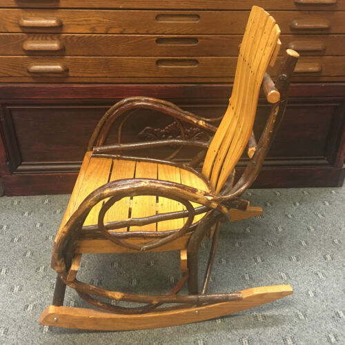 VERY UNIQUE CHILDS BENT VINE HICKORY OAK  ROCKING CHAIR AMISH MADE!
